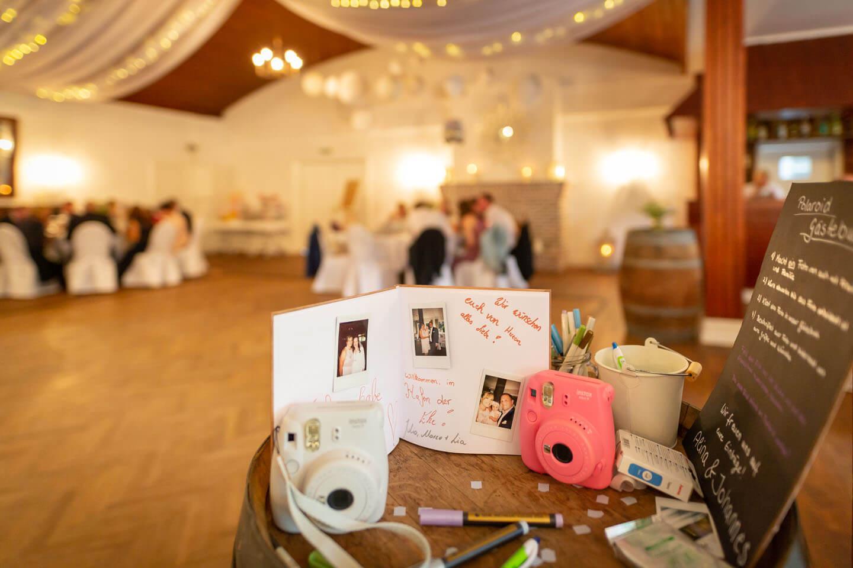 Gästebuch in der Hochzeitslocation