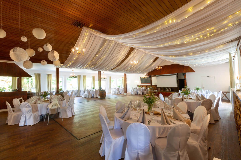 Festsaal für die Hochzeitsparty