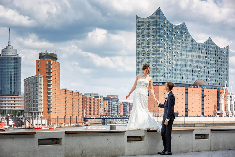 Hochzeitsbilder im Hamburger Hafen