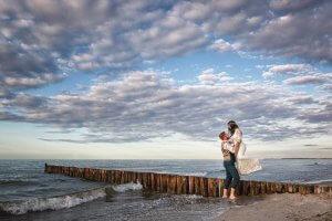 Hochzeitsbilder am Strand von Kühlungsborn