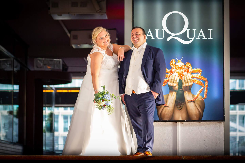 Hochzeit im Hamburger Hafen beim Restaurant Au Quai