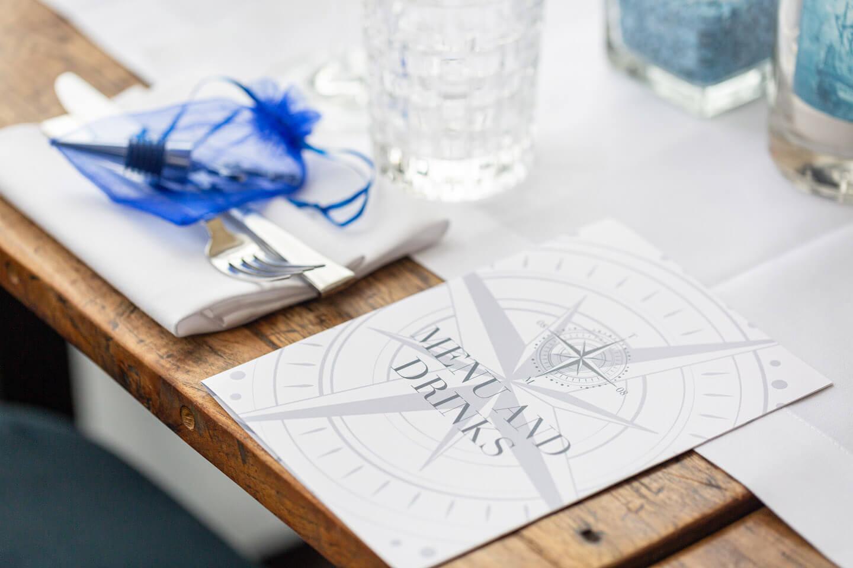Menükarte Hochzeitsfeier