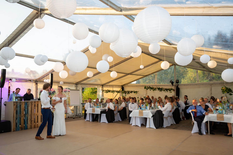 Begrüßungsrede des Hochzeitspaars