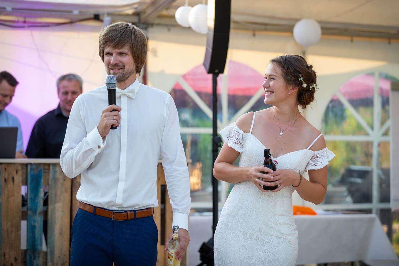 Begrüßungsrede vom Hochzeitspaar