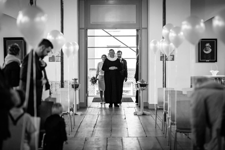 Einzug des Brautpaars bei Hochzeit auf St. Pauli
