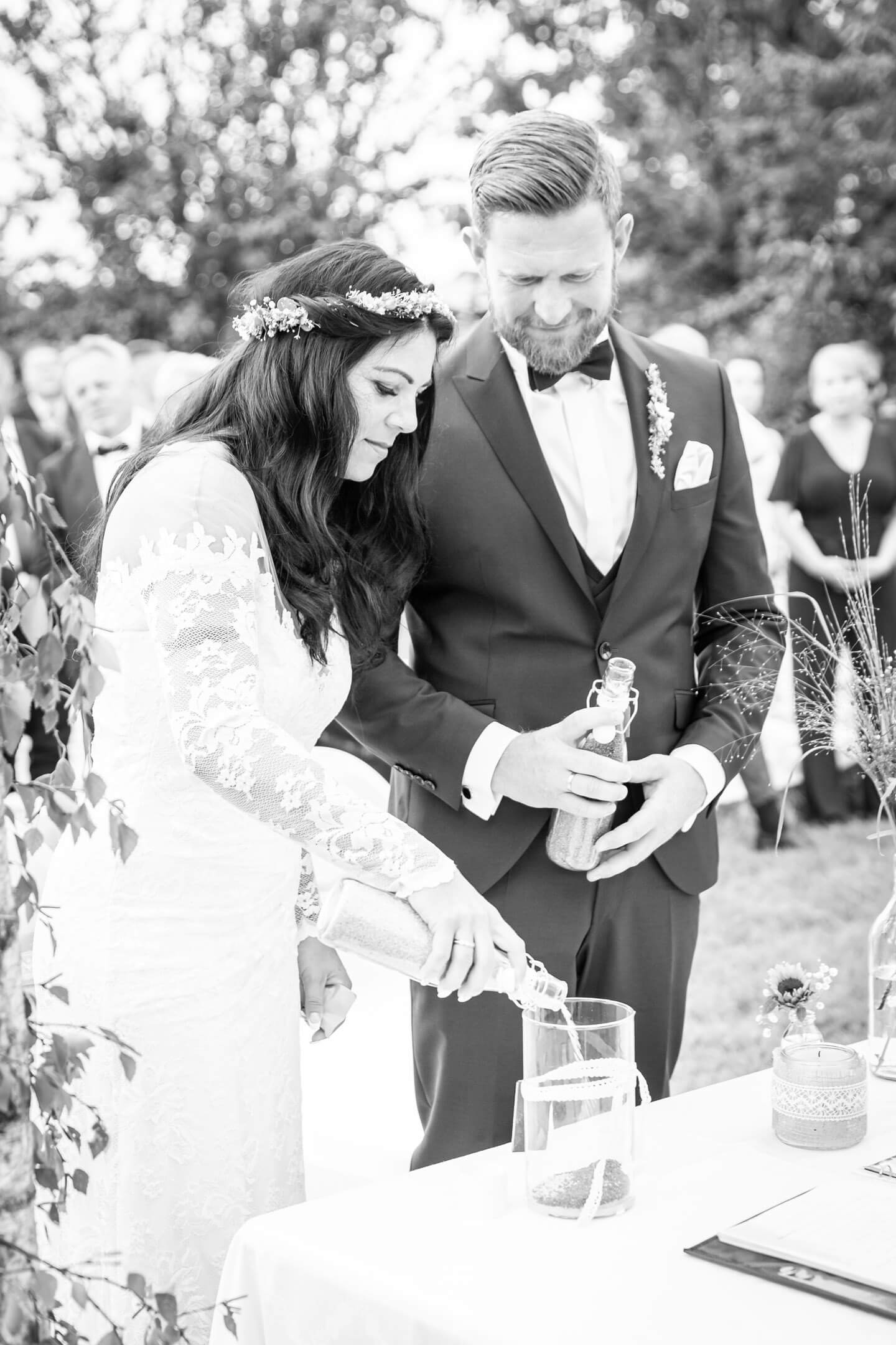 Hochzeitsfotos in Schwarzweiß