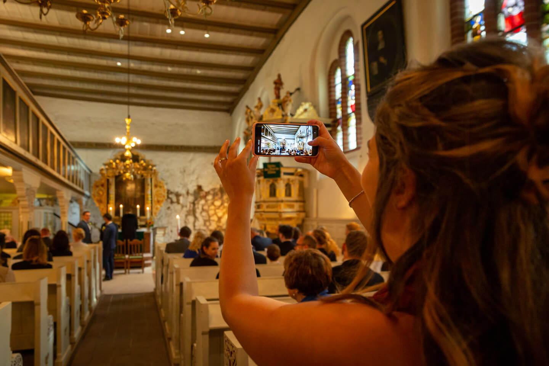 Handyfoto in der Kirche