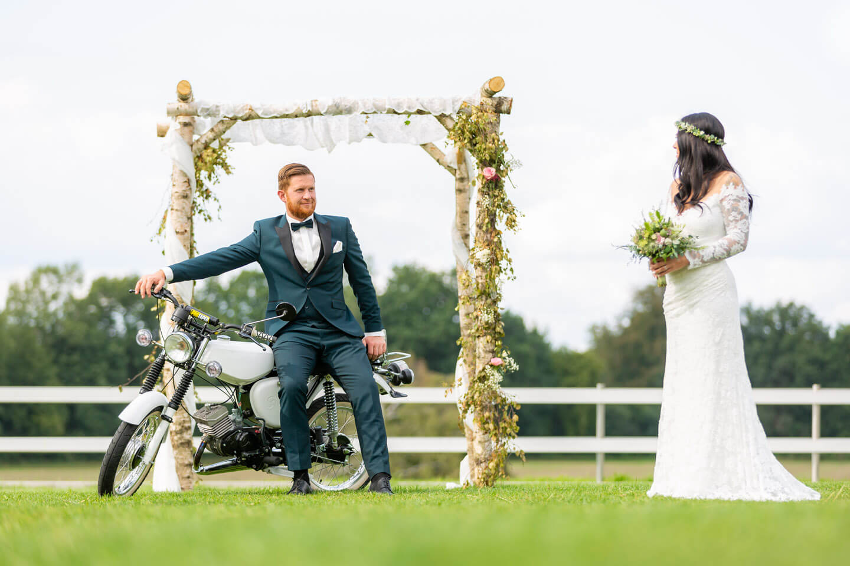 Hochzeitsfotos im Vintage-Look