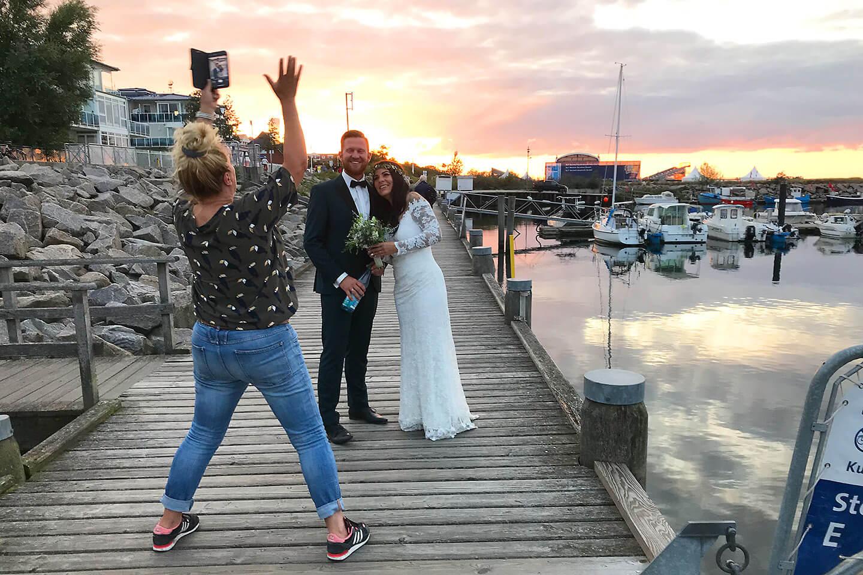 Papparazzi beim Hochzeitsshooting