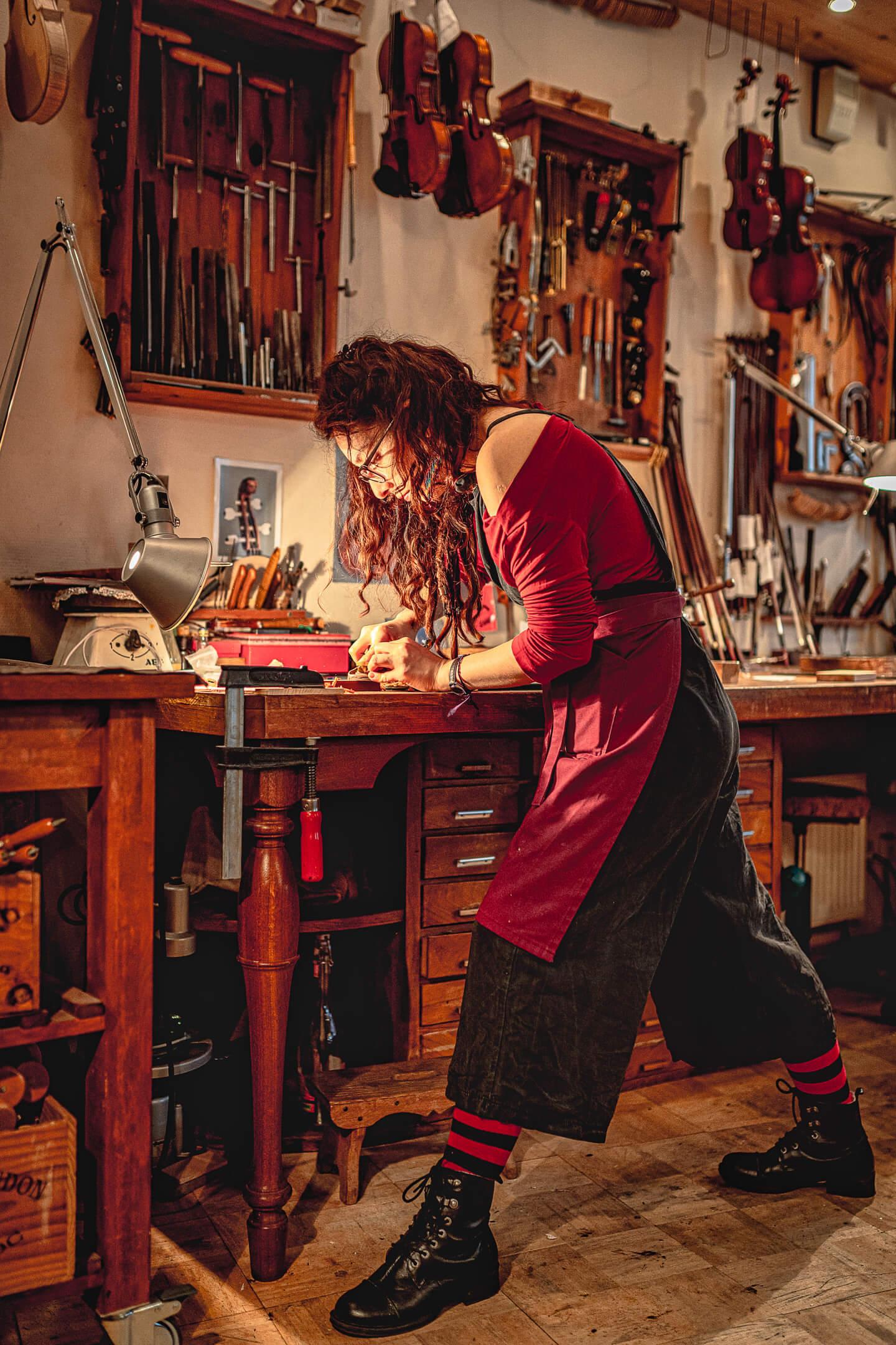 In der Werkstatt des Geigenbauers Sielaff (Foto: Florian Läufer)