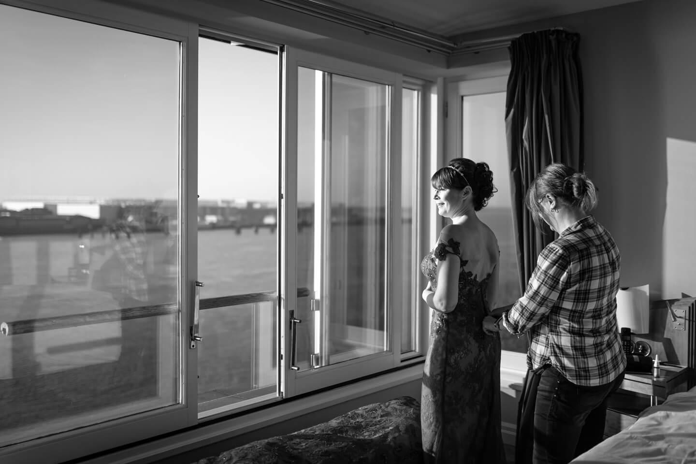 Getting Ready im Hotelzimmer an der Elbe