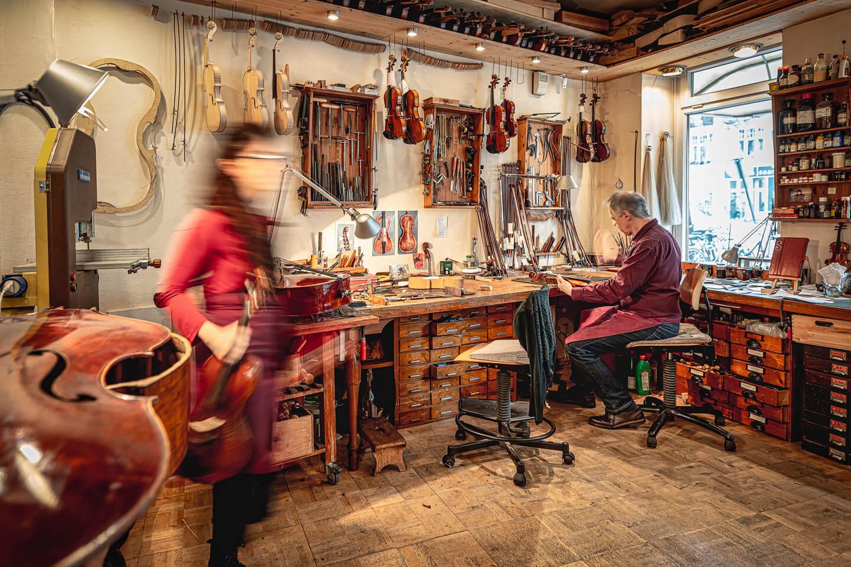 In der Werkstatt von Geigenbauer Stefan Sielaff. (Foto: Florian Läufer)
