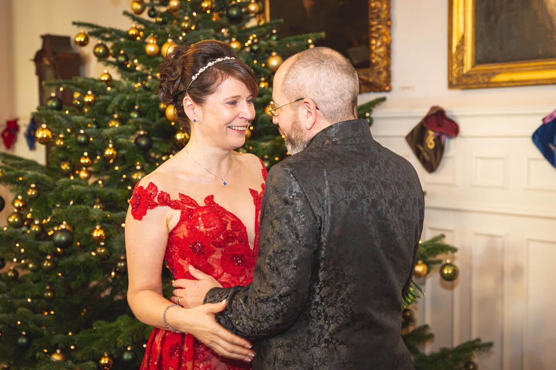 First View am Weihnachtsbaum im Hotel Jacob