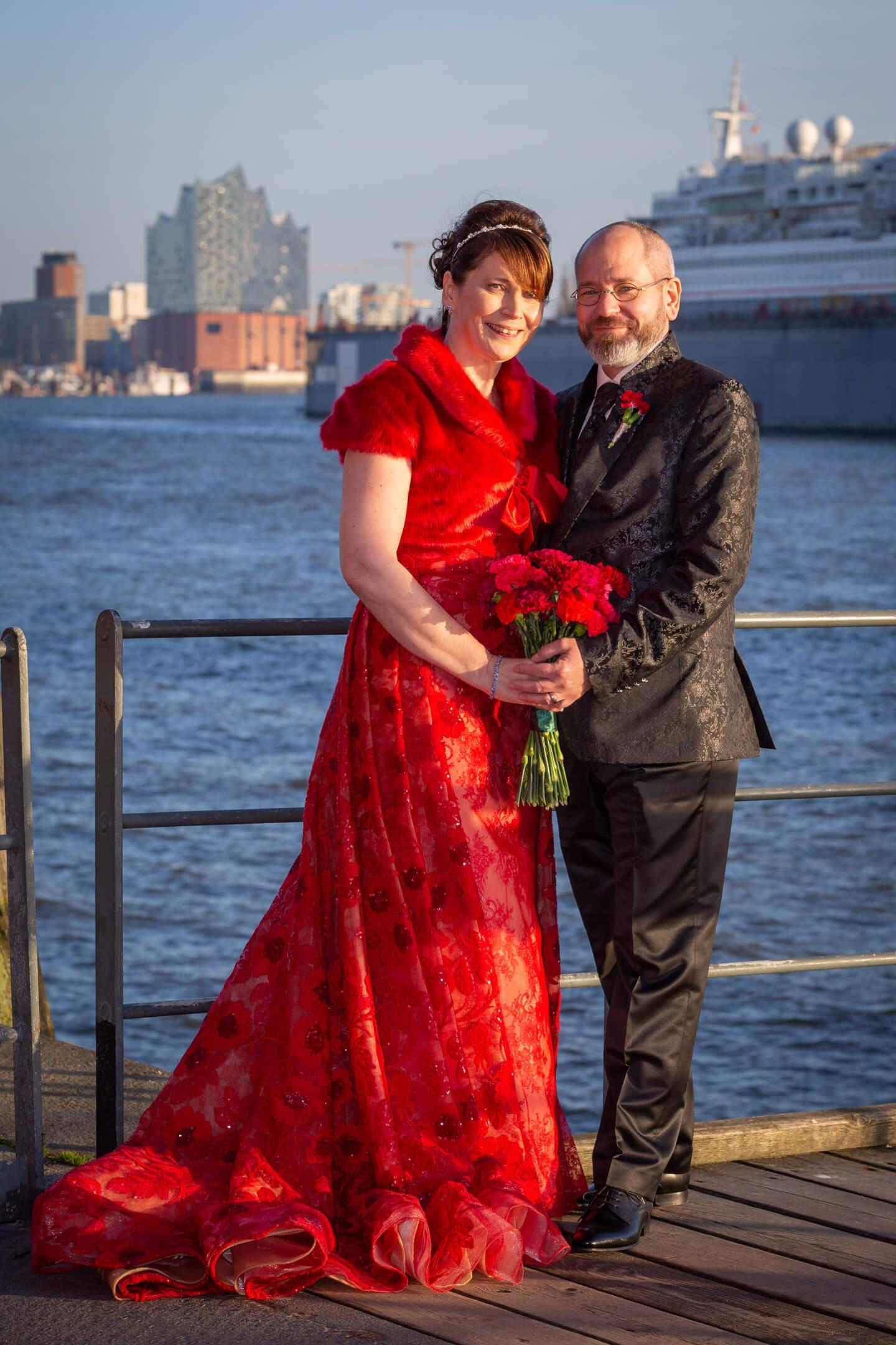 Hochzeitsfoto mit Elbphilharmonie