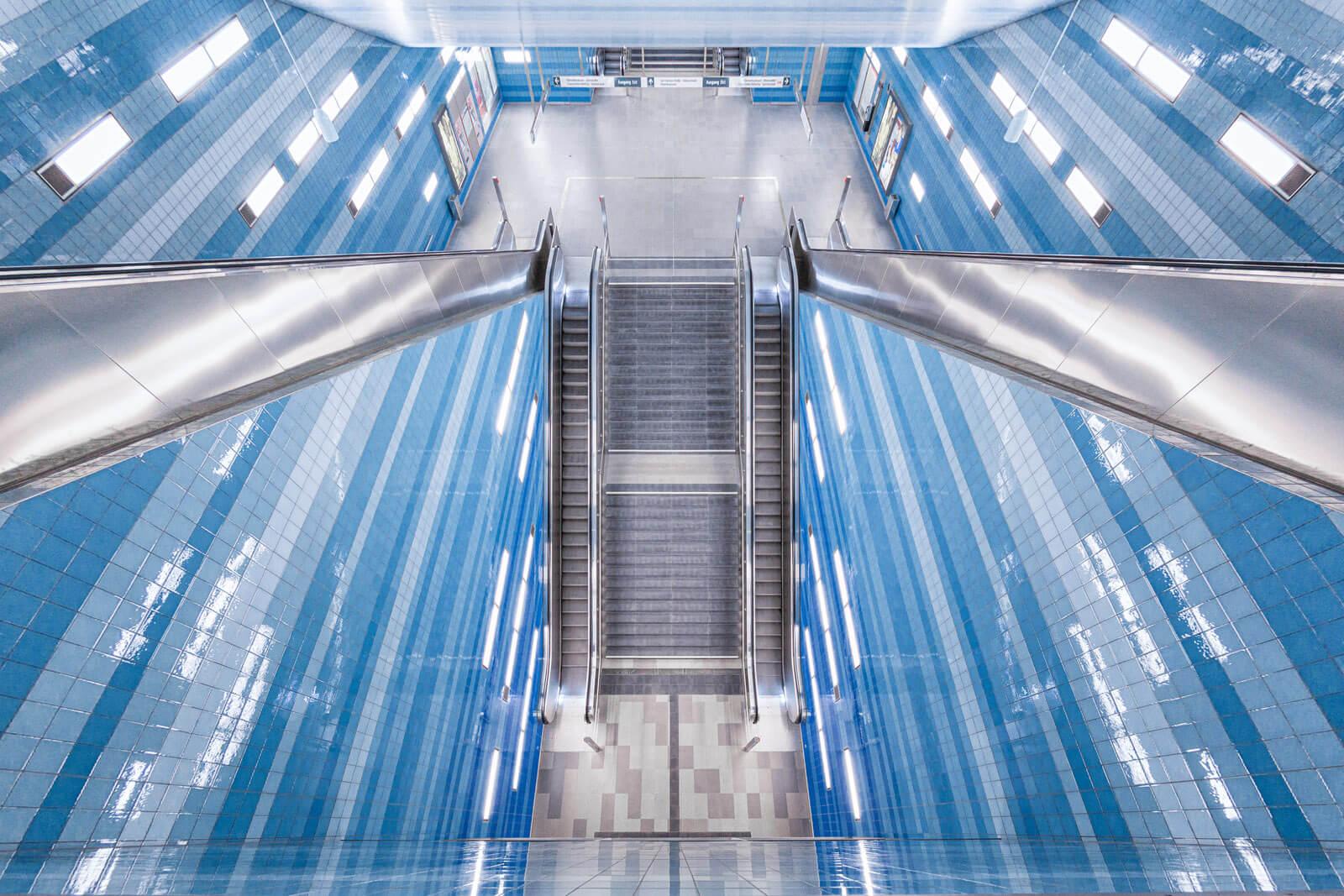 Vogelperspektive U-Bahn Überseequartier