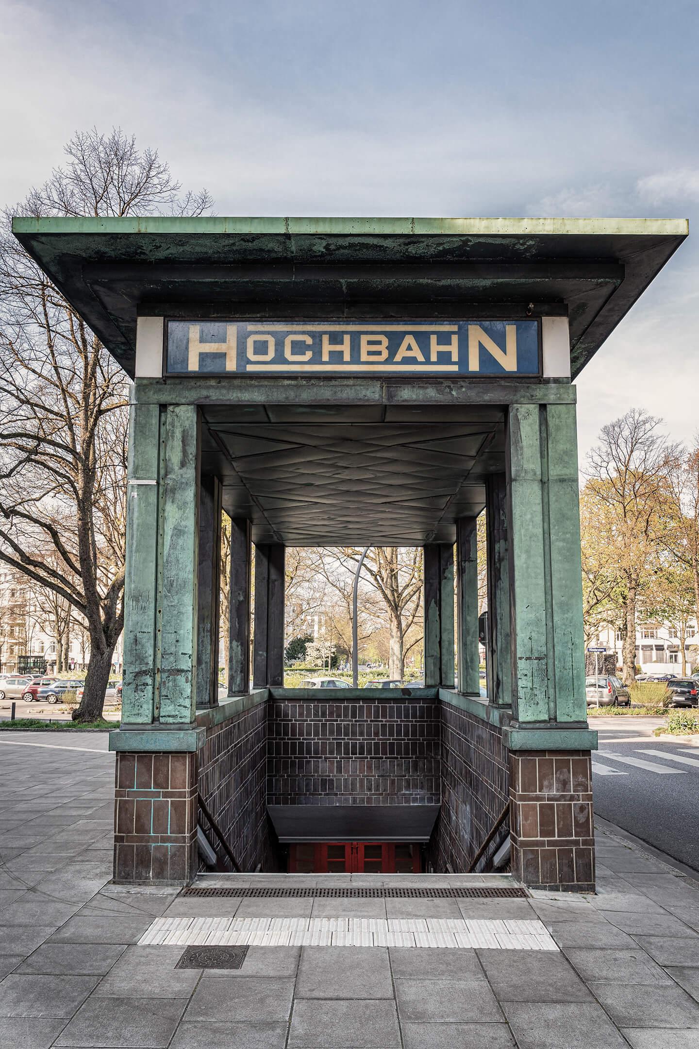 Eingangsbereich der U-Bahnstation Klosterstern