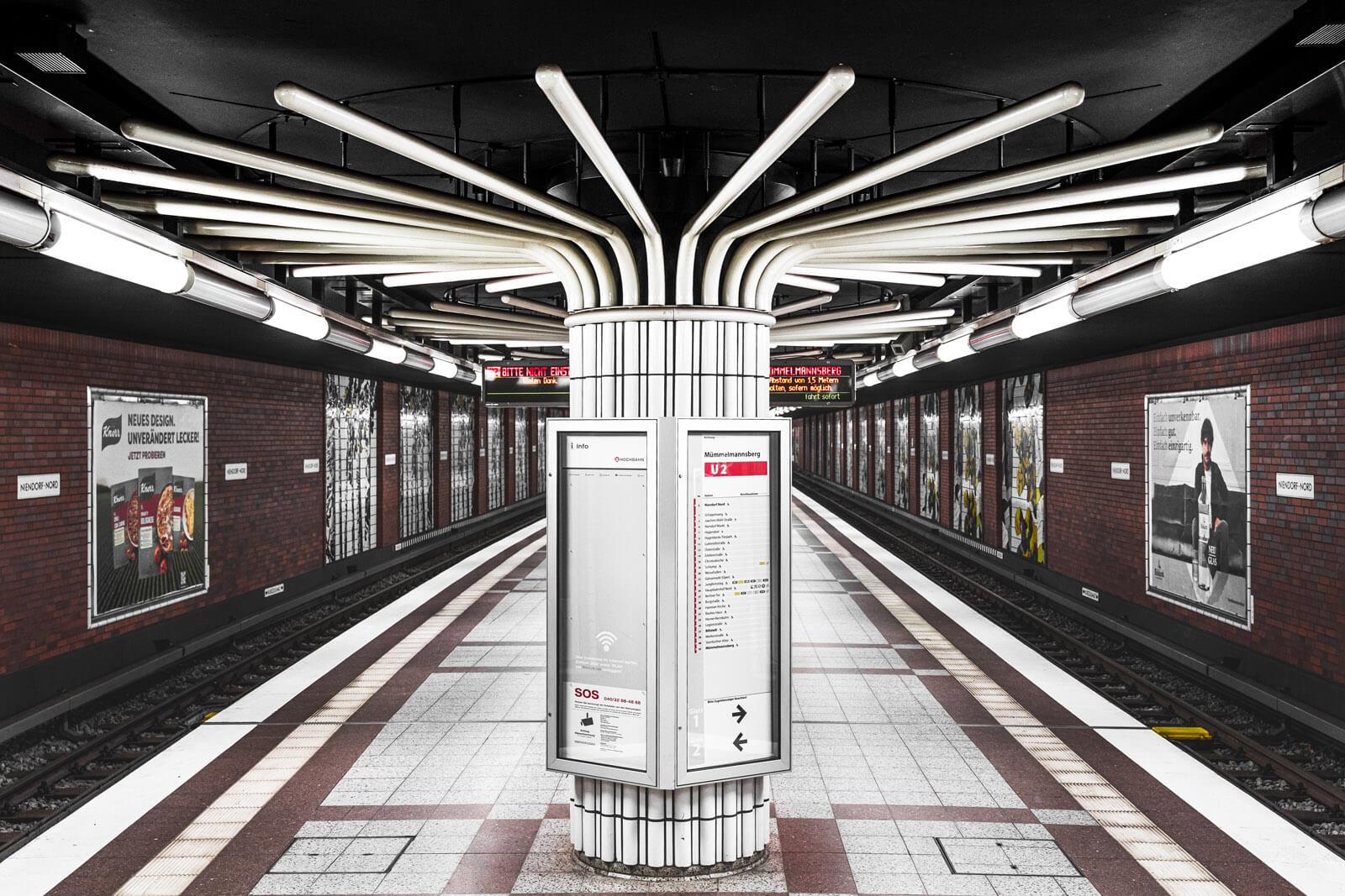 Strukturen der U-Bahnstation Niendorf Nord