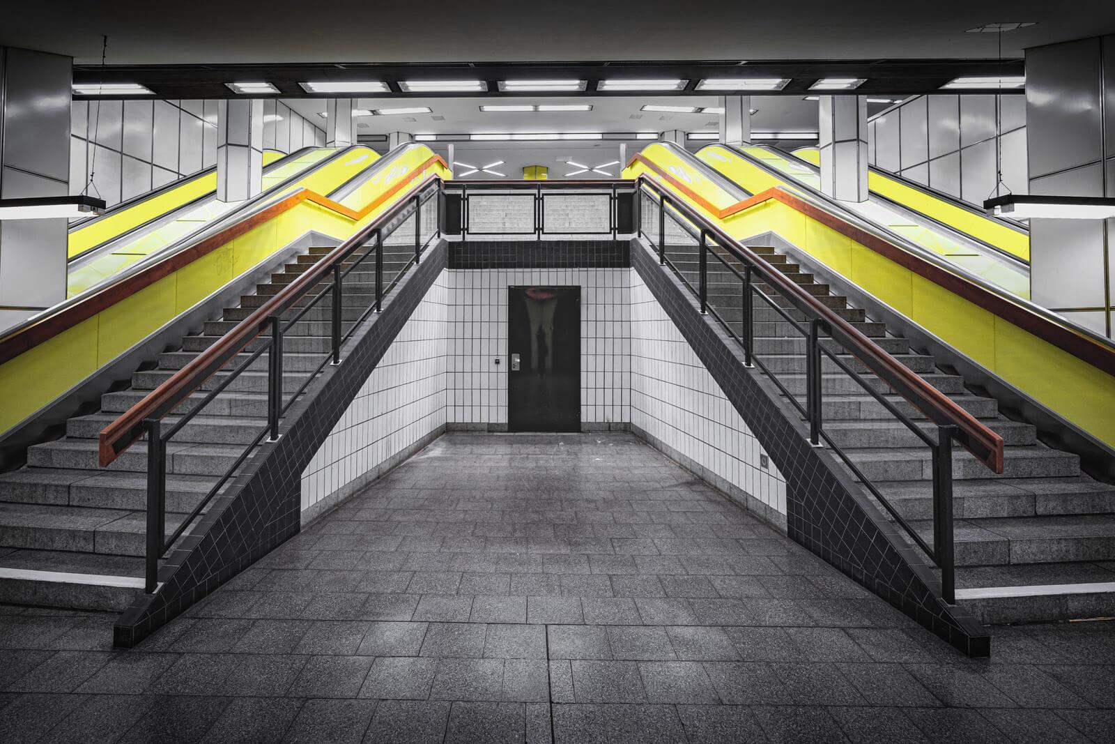Rolltreppen im U-Bahnhof Jungfernstieg