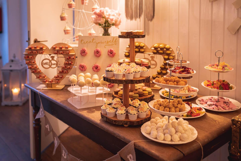 Candybar auf einer Hochzeitsfeier vor den Toren Hamburgs