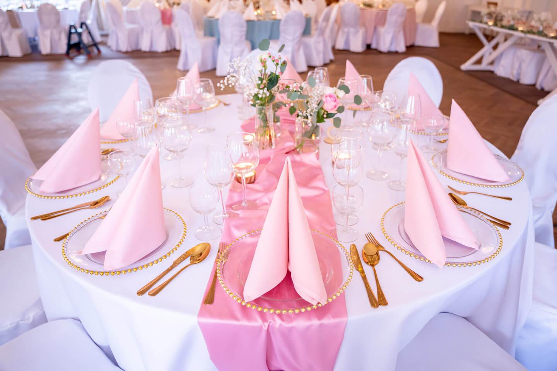 Tischgedeck pink