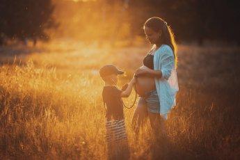 Entstanden bei einem Babybauch-Shooting in den Boberger Dünen