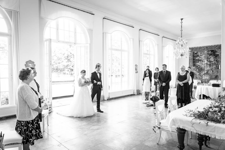 Einzug vom Brautpaar im Gut Altenhof bei Eckernförde