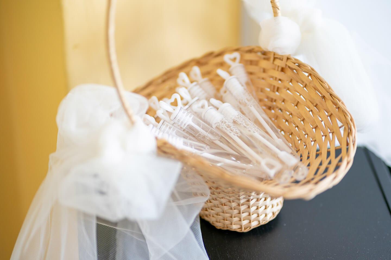 Seifenblasen für die Hochzeitsgäste