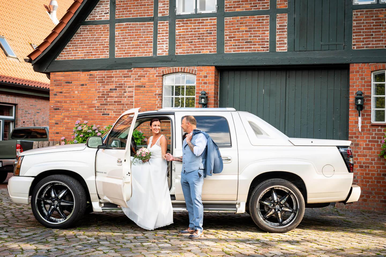 Hochzeitsauto Escalade Cadillac