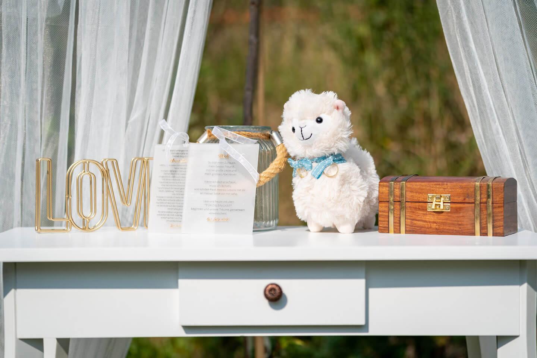 Accessoires für freie Trauung im eigenen Garten