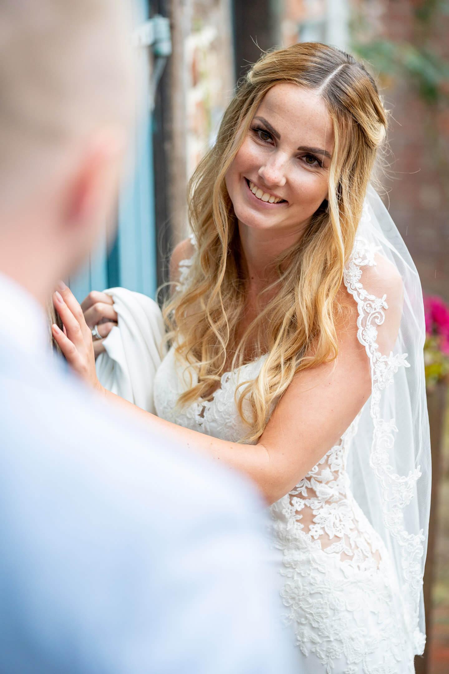 Braut beim Hochzeitsshooting in Buxtehude