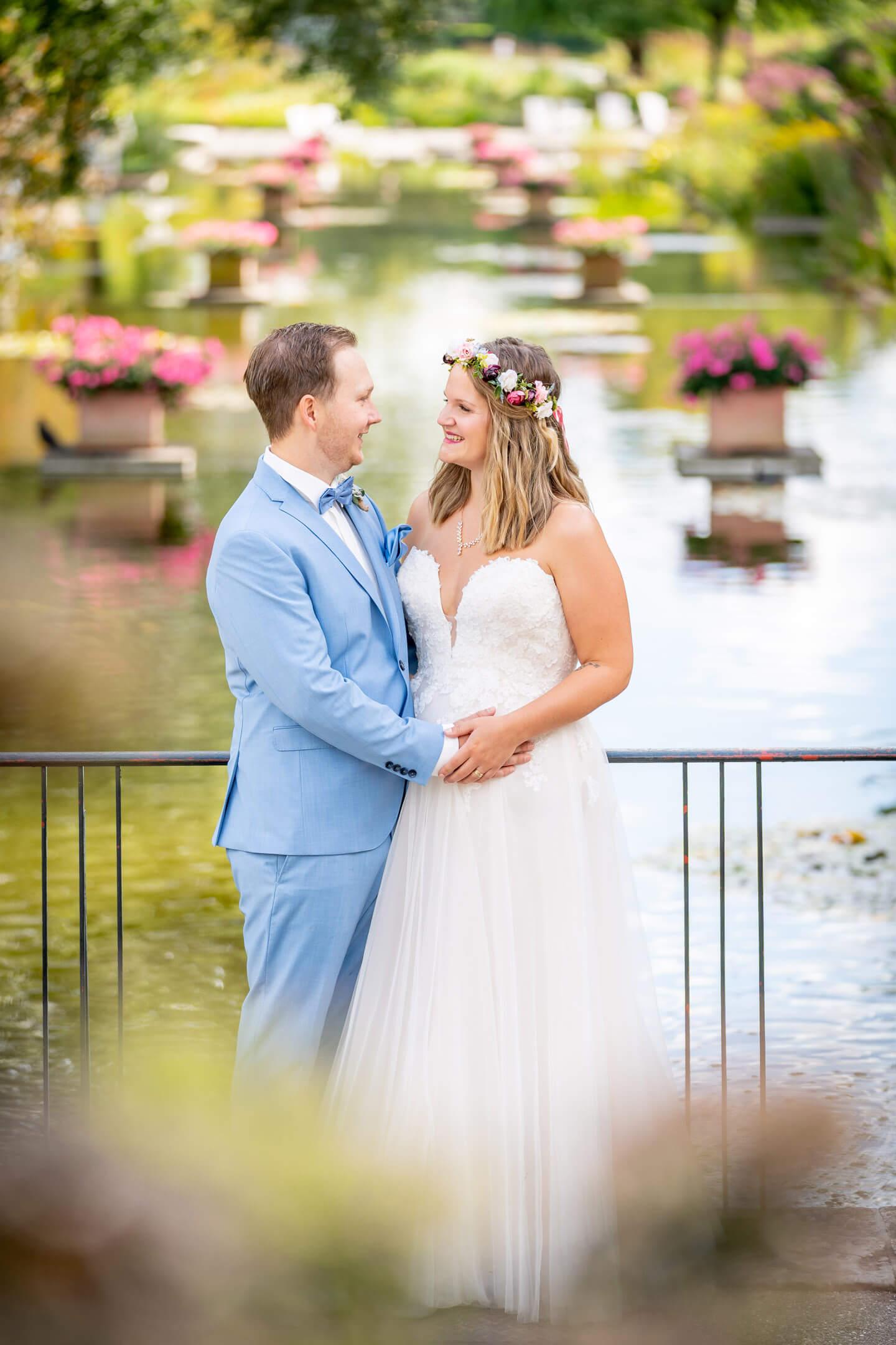 Brautpaar Planten un Blomen