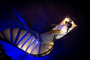 Wasserturm Lüneburg als Kulisse für dieses Brautpaarshooting mit dem Top Fotograf Florian Läufer aus Hamburg