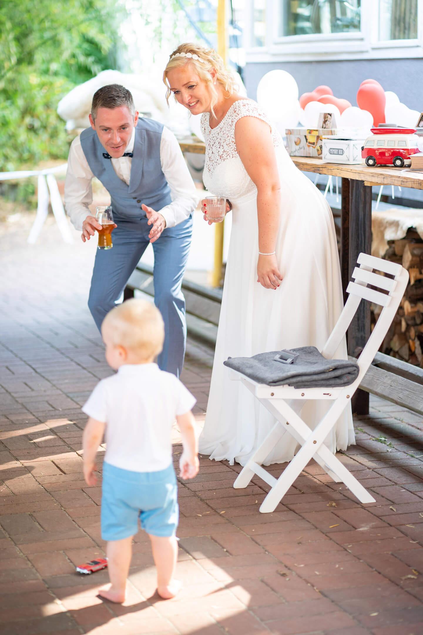 Hochzeitspaar Sohn
