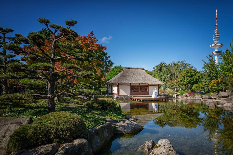 Japanischer Garten Hochzeits-Shooting