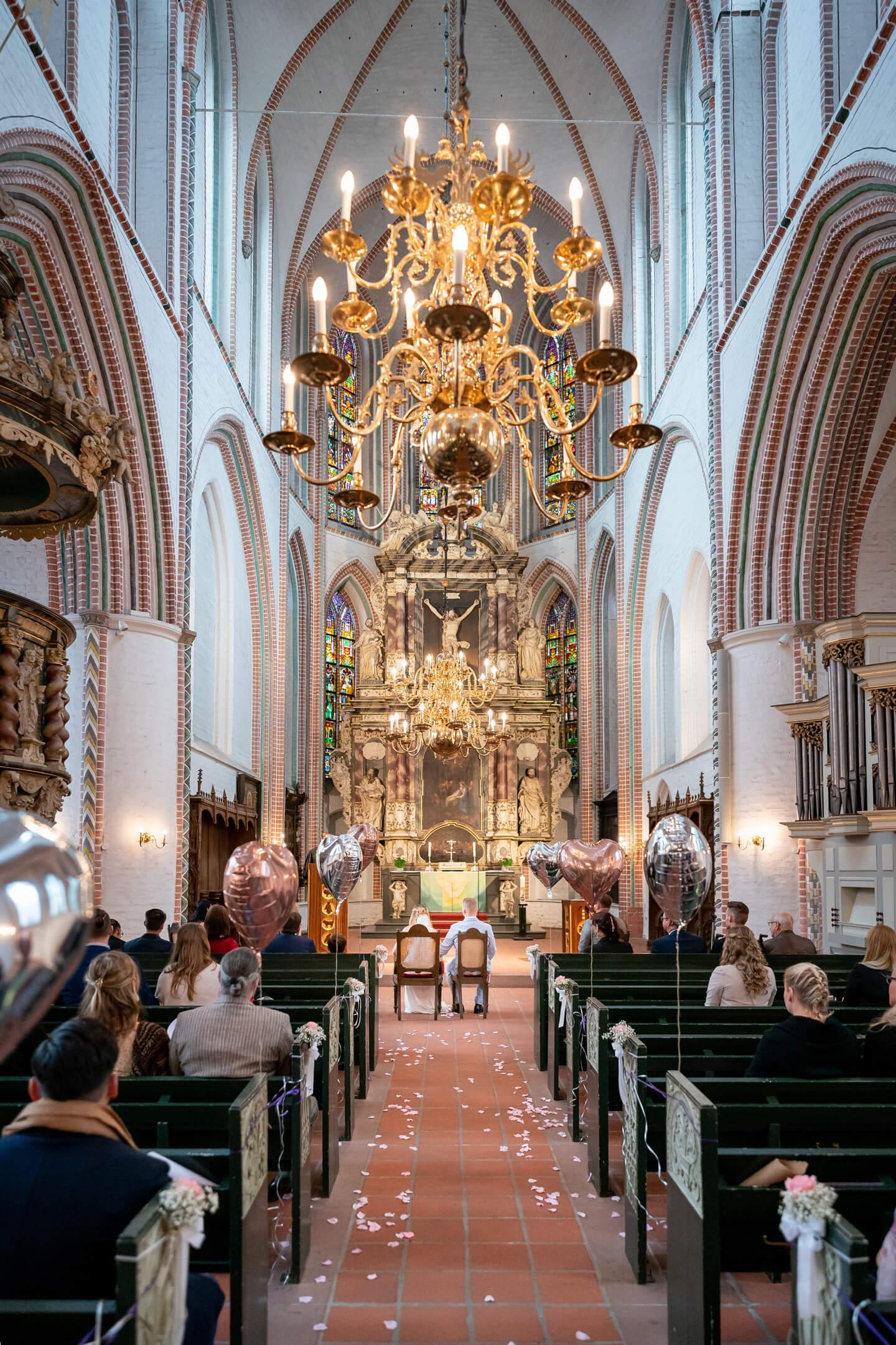 Hochzeit in Buxtehude in der Petri Kirche