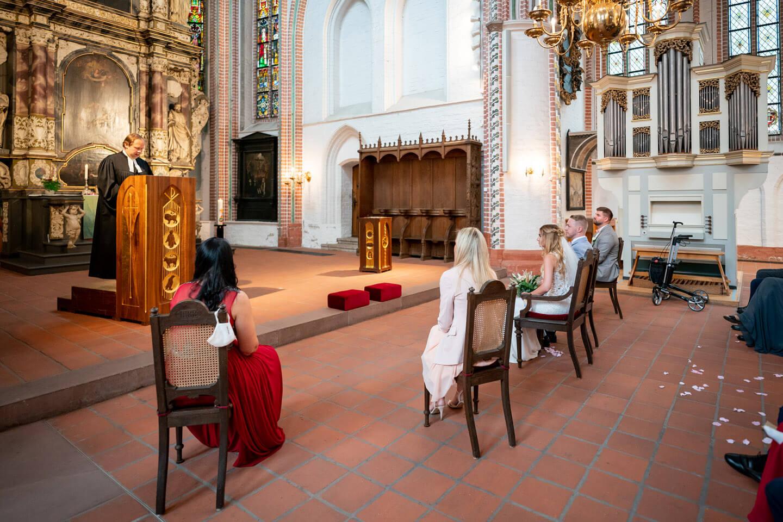 Trauung in der Petri Kirche in Buxtehude