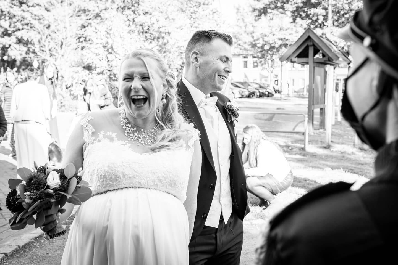 Glückliche Brautleute
