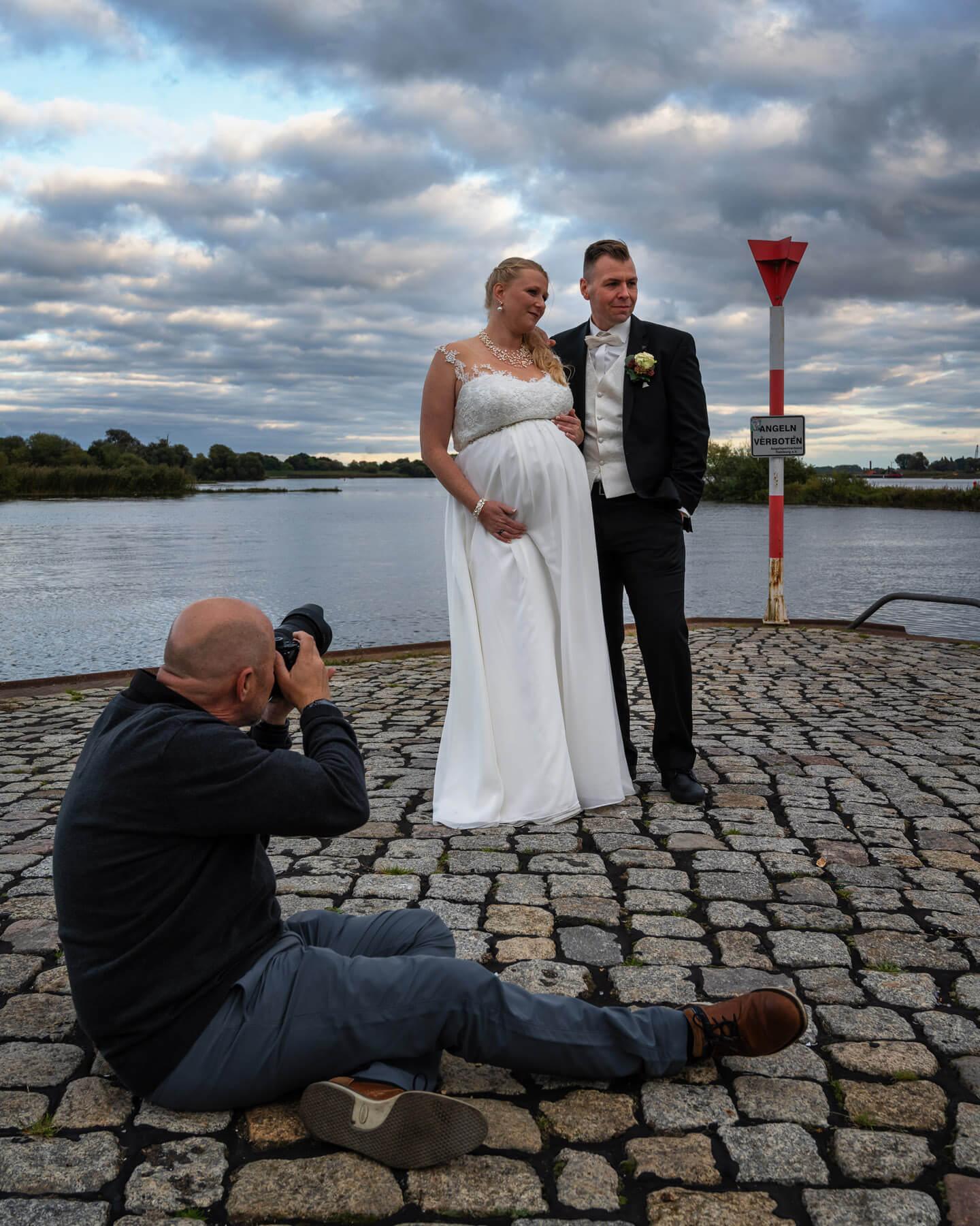 Hochzeitsfotos am Zollenspieker mit dem Fotograf Florian Läufer aus Hamburg