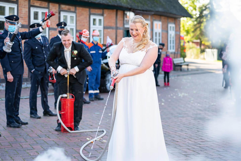 Feuerwehrbrauch Hochzeit