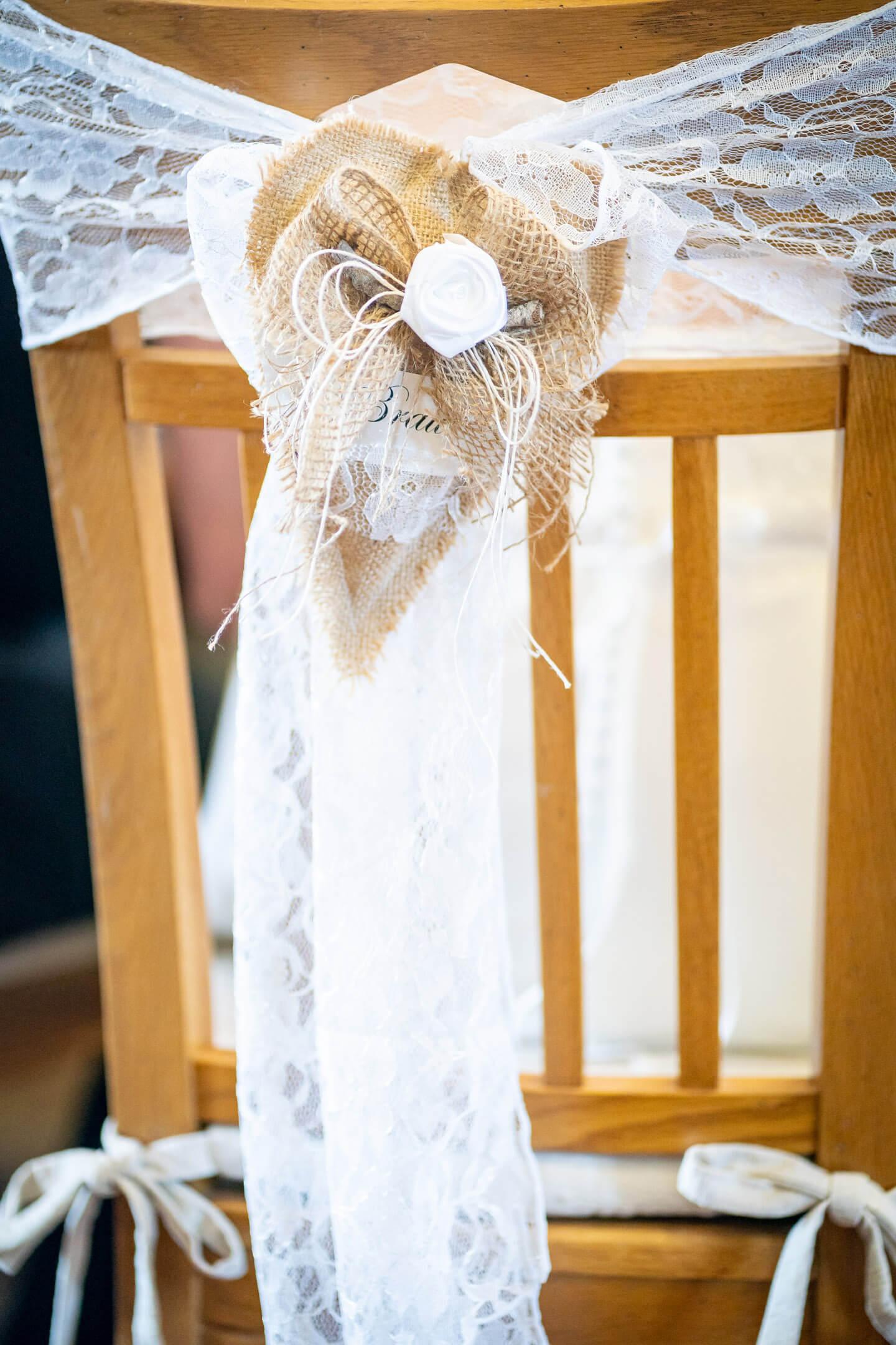 Stuhlschmuck Braut