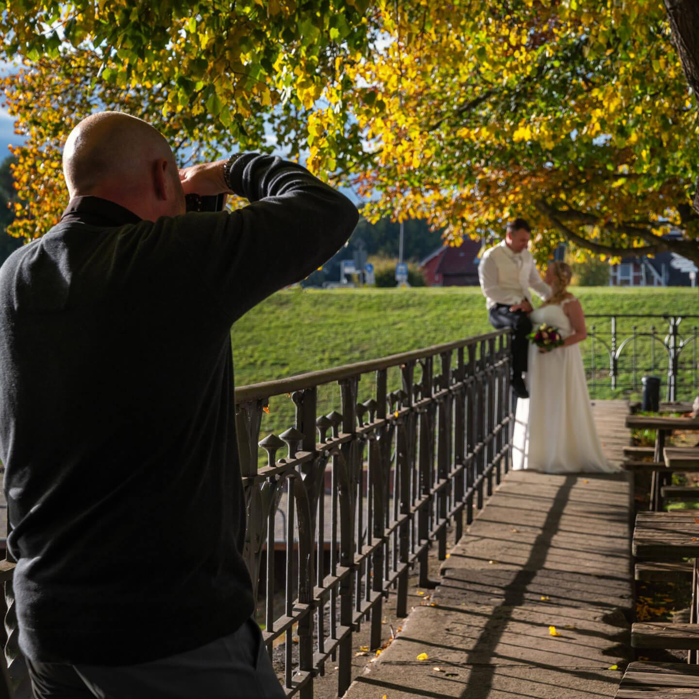 Behind the scenes: Hochzeitsfotograf Florian Läufer (Hamburg) beim Hochzeitsshooting