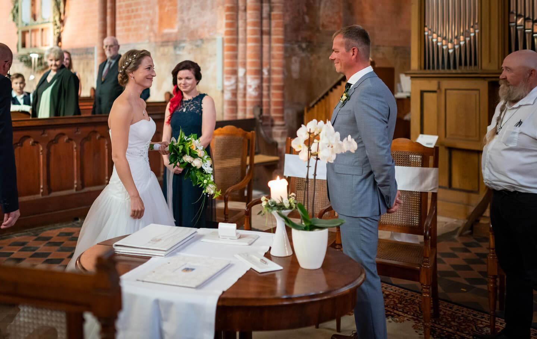 Übergabe Braut