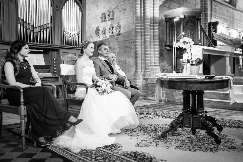 Hochzeitspaar in der Klosterkirche Malchow