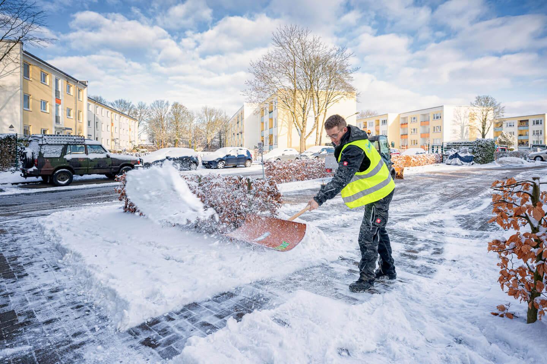 Fotoshooting mit dem Winterdienst Borchers in hamburg. Foto: Florian Läufer