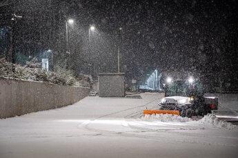 Schneegestöber beim Fotoshooting für den Winterdienst Borchers mit dem Fotograf Florian Läufer