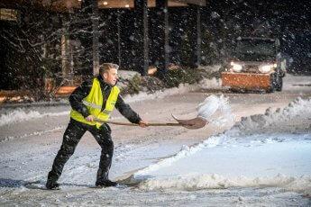 Business Fotos im Einsatz des Winterdienstes