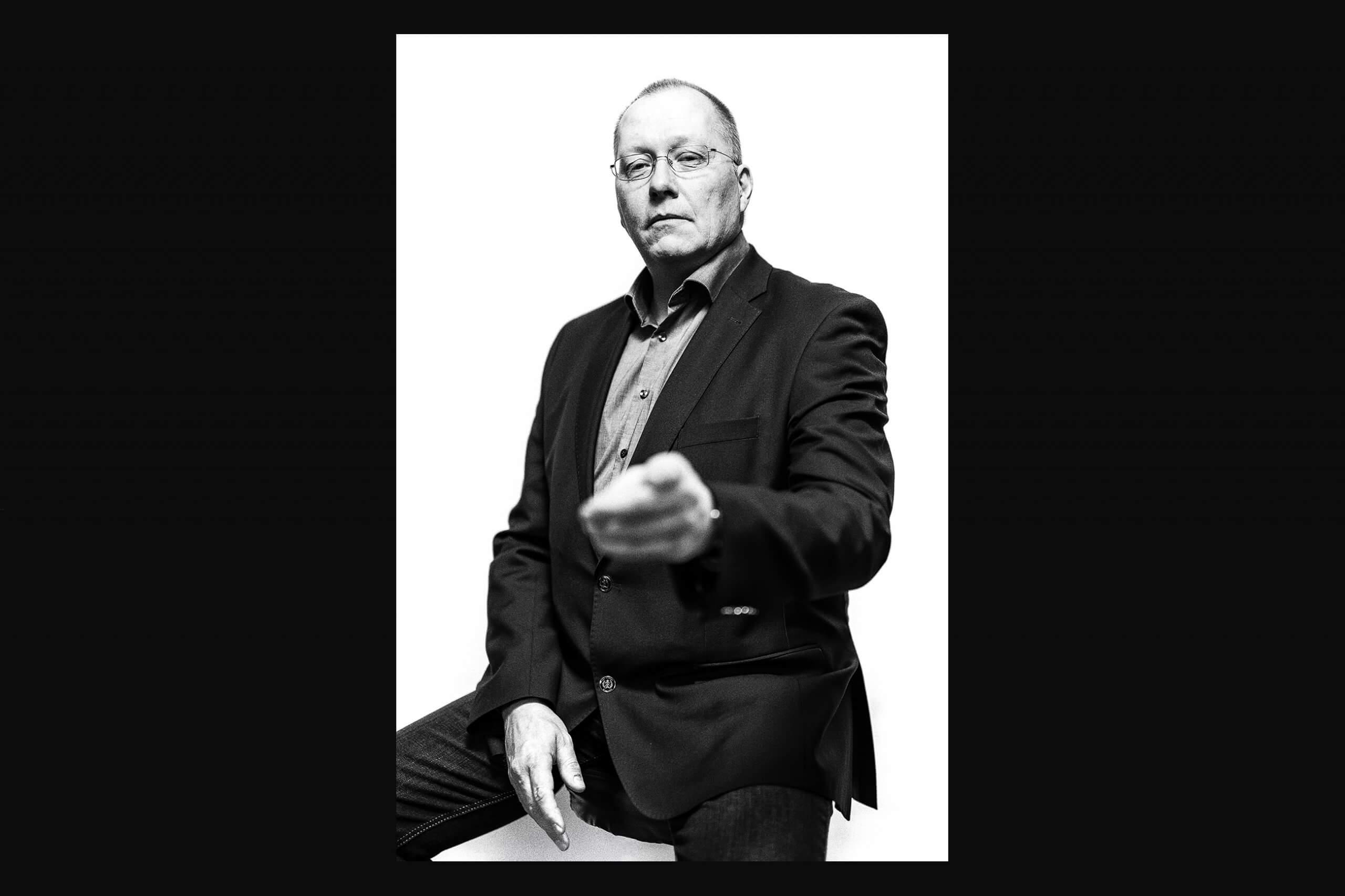 Gutes Portraitfoto in schwarzweiß