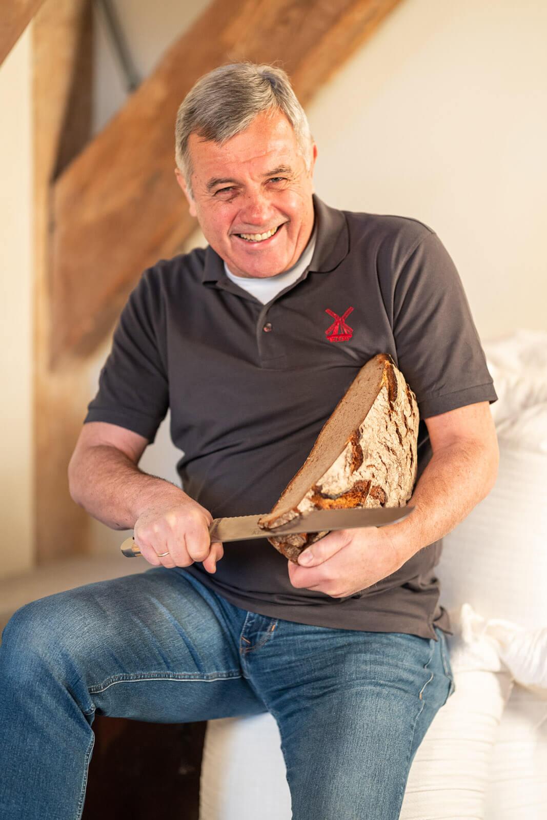 Joachim Lessau, Inhaber Braaker Mühle
