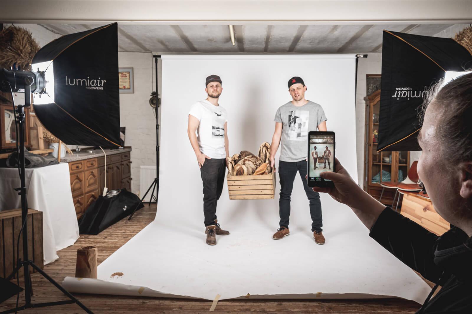 Making of Fotoshooting mit neutralem Hintergrund