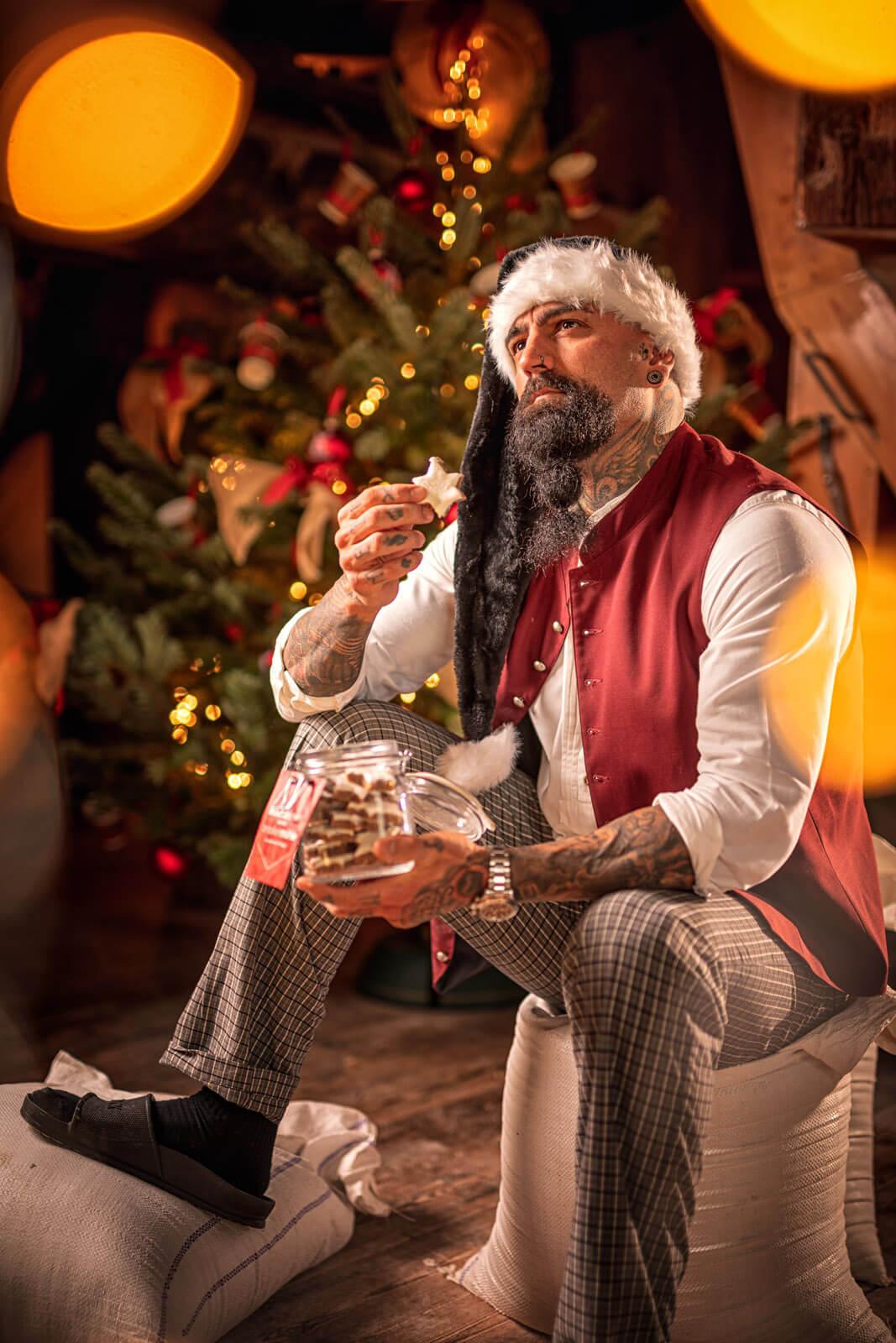 In der Weihnachtsbäckerei. Entstanden bei einem Fotoshooting in der Braaker Mühle bei Hamburg